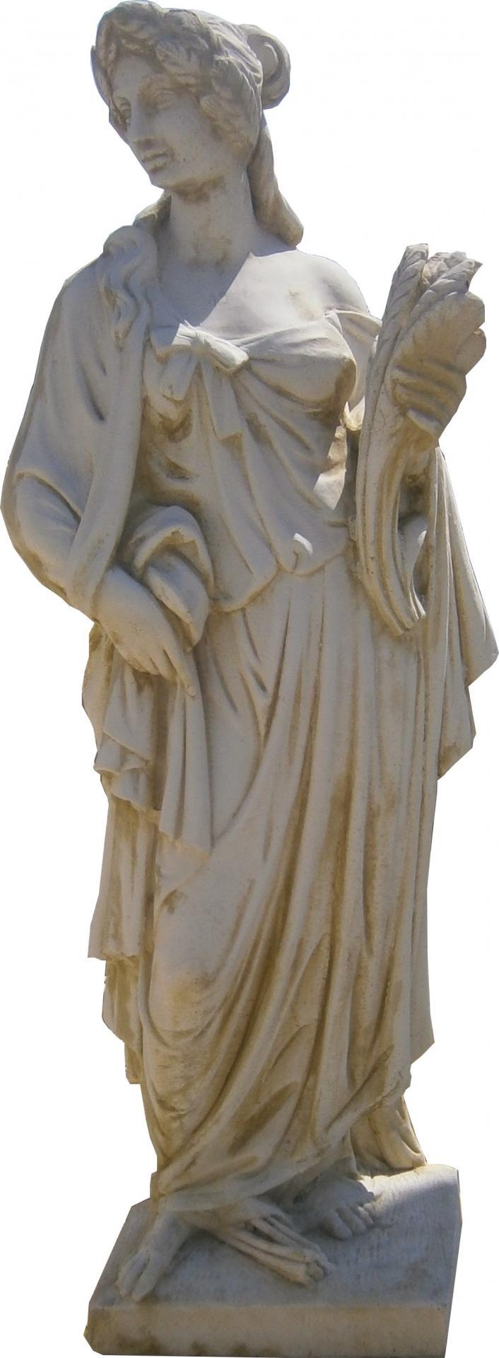 statue d 39 une femme en pierre reconstitu e. Black Bedroom Furniture Sets. Home Design Ideas