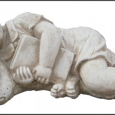 Petit garçon qui dort avec son chien