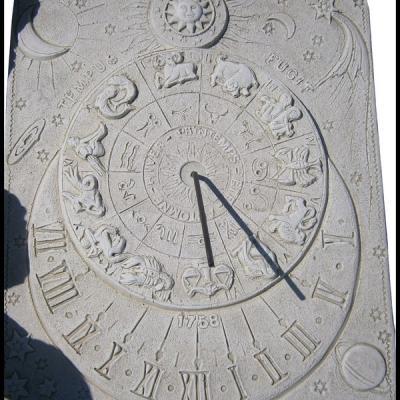 Cadran solaire avec signe astrologique