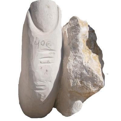 Doigt en pierre naturelle