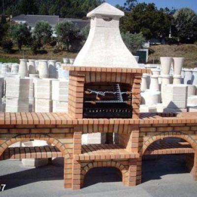 Superbe cuisine d'été en brique