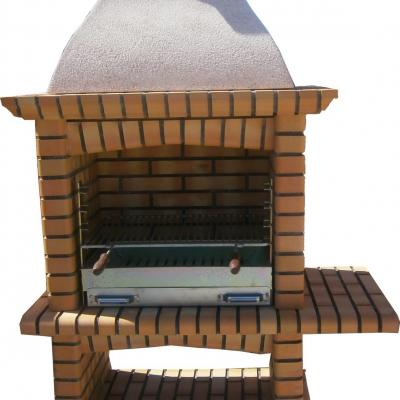Barbecue en briques réfractaires