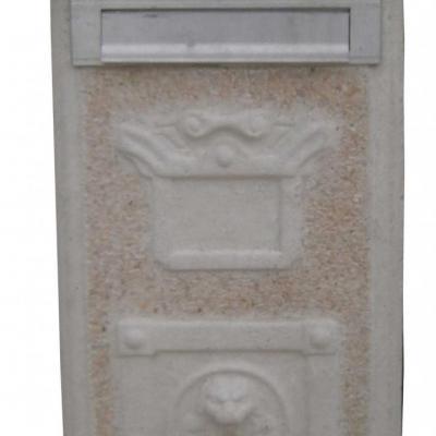 Boite aux lettres haute en pierre reconstituée