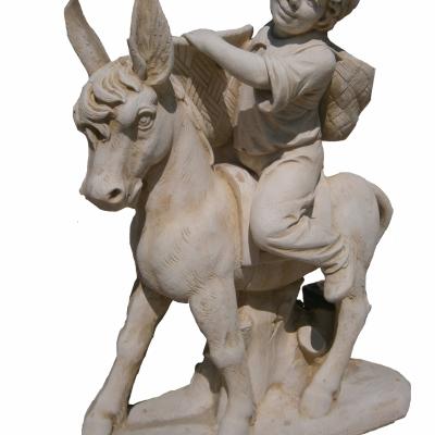 Enfant sur un âne