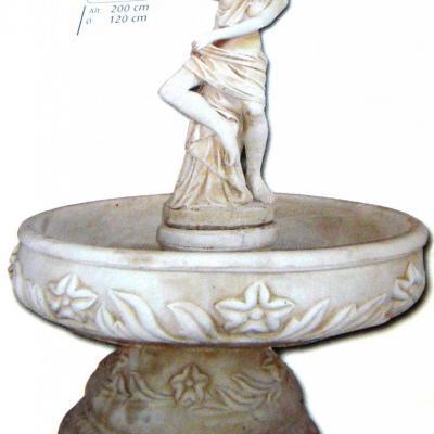 Fontaine fleur avec venus