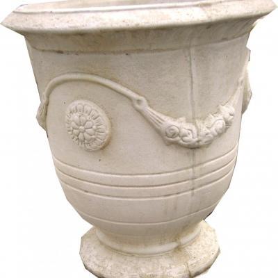 Gros vase en pierre reconstitué