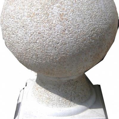 Grosse sphère déco de poutre en pierre reconstitué