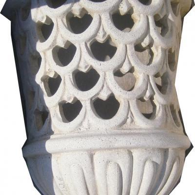 Petit cache lumière en pierre reconstituée
