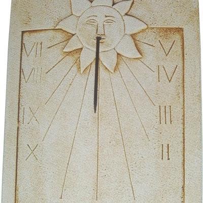 Cadran solaire en pierre reconstitué