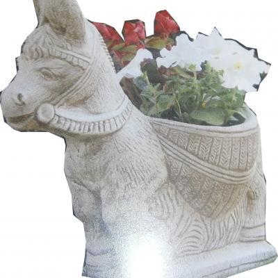 Petit âne jardinière