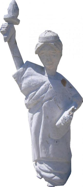 Statue de la liberté en pierre naturelle