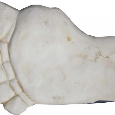 Pieds en pierre reconstituée