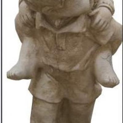 Petits enfants en pierre reconstituée