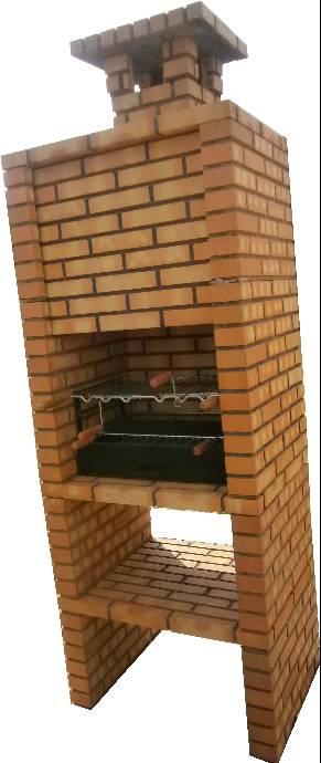 barbecue en brique r fractaire. Black Bedroom Furniture Sets. Home Design Ideas