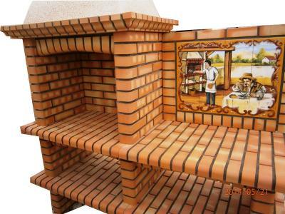 Barbecue en brique réfractaire