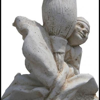 Petite statuette de lutin en pierre reconstituée