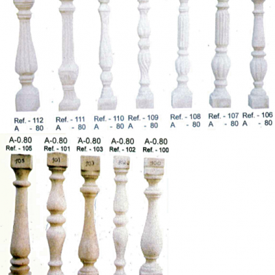 Modèle de balustres de 80 cm de haut