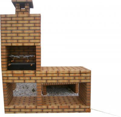 Barbecue en brique réfractaires