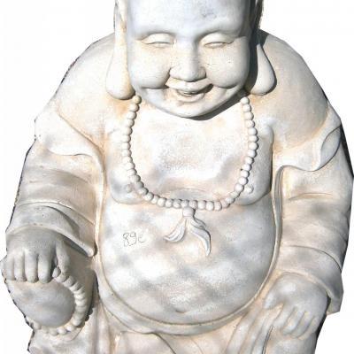 Gros bouddha en pierre reconstituée