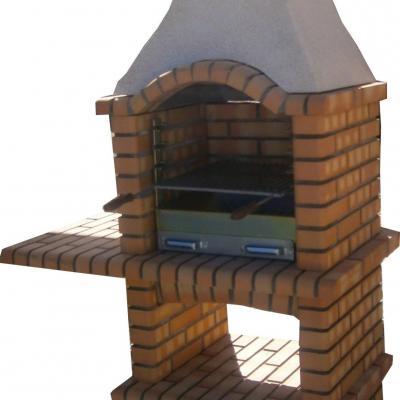 Petit barbecue en briques réfractaires