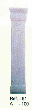 Piliers Blanc en pierre reconstituée