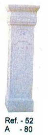 Beau pilier en pierre reconstituée